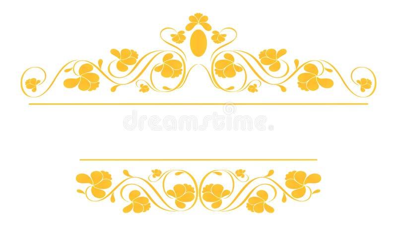 Uitstekend frame in goud. vector illustratie