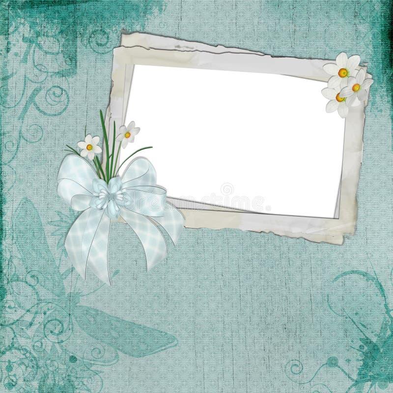 Uitstekend Frame met Madeliefjes vector illustratie