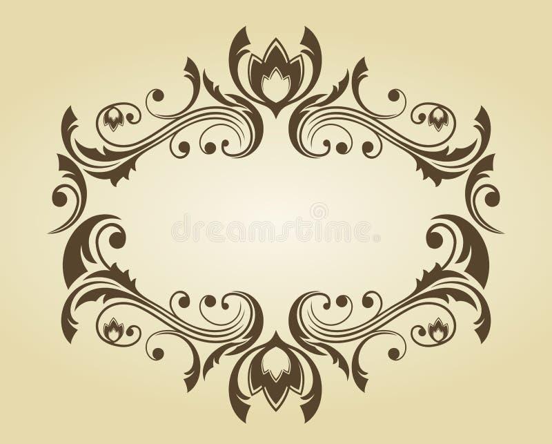 Uitstekend frame in victorian stijl royalty-vrije illustratie
