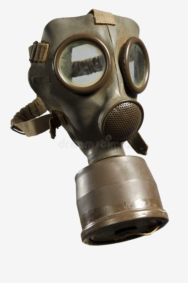 Uitstekend Gasmasker dat op Witte Achtergrond wordt geïsoleerd royalty-vrije stock afbeelding