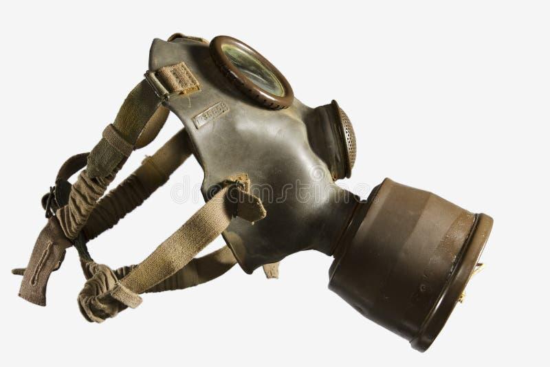 Uitstekend Gasmasker dat op Witte Achtergrond wordt geïsoleerd stock fotografie