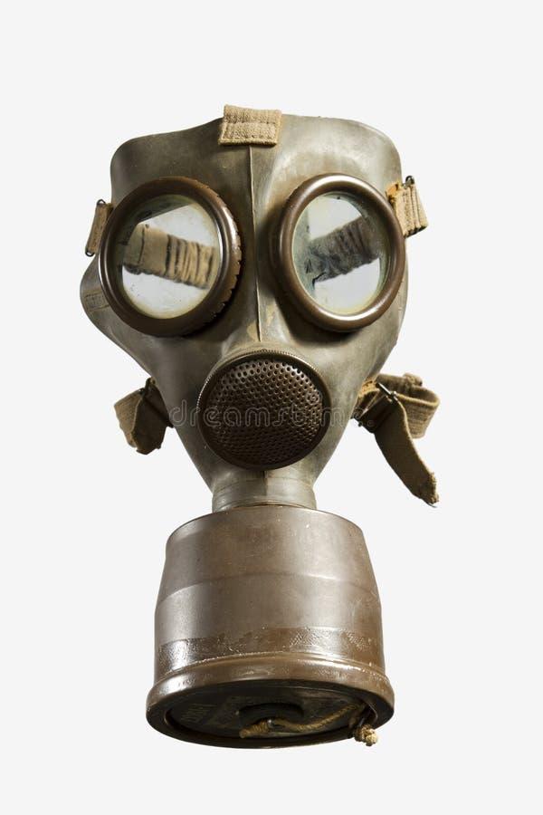 Uitstekend Gasmasker dat op Witte Achtergrond wordt geïsoleerde stock afbeelding