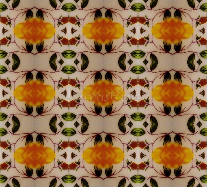 Uitstekend geel patroon royalty-vrije stock fotografie