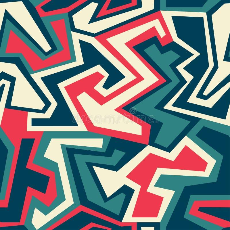 Uitstekend geometrisch naadloos patroon vector illustratie