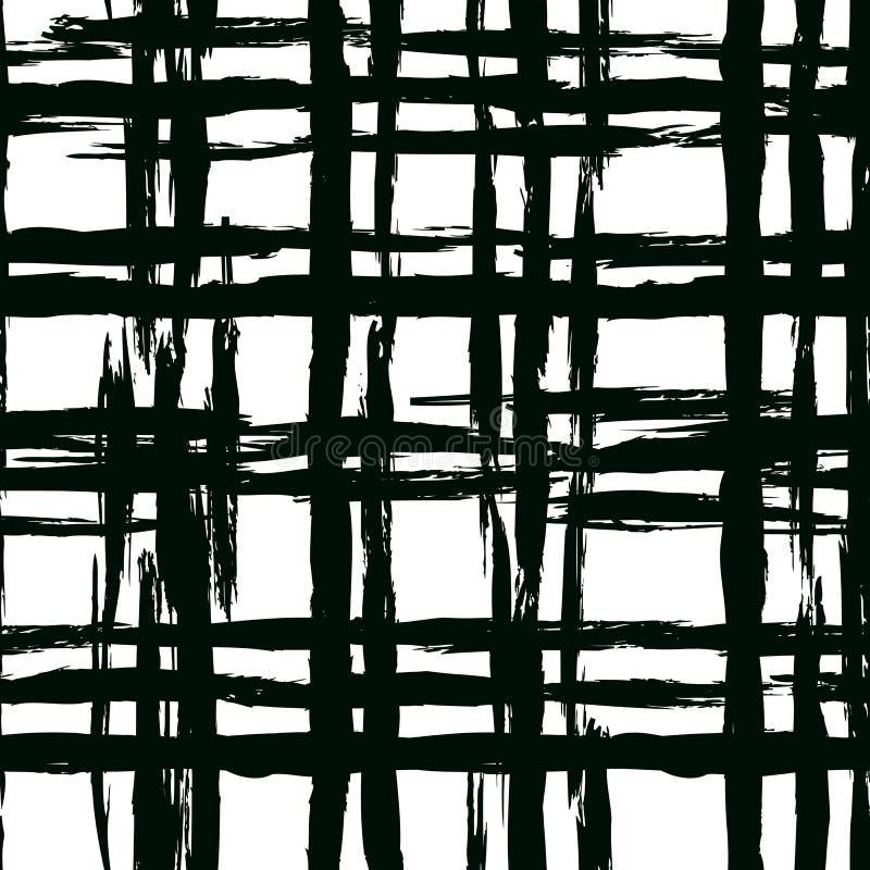 Uitstekend gestreept patroon met geborstelde lijnen royalty-vrije illustratie