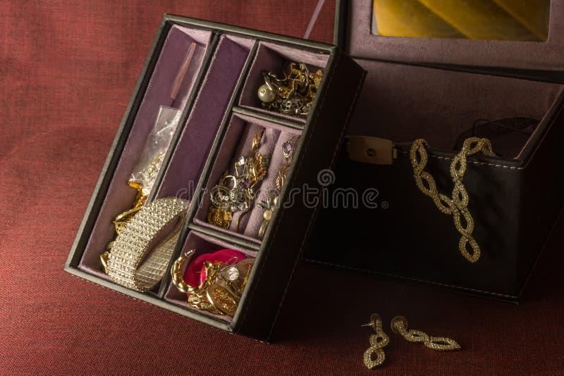 Uitstekend geval met juwelen stock foto's