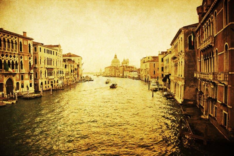 Uitstekend geweven beeld van het Grote Kanaal in Venetië stock illustratie