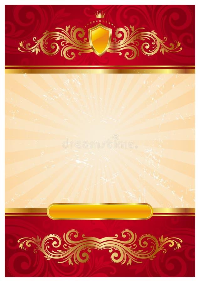 Uitstekend gouden frame vector illustratie