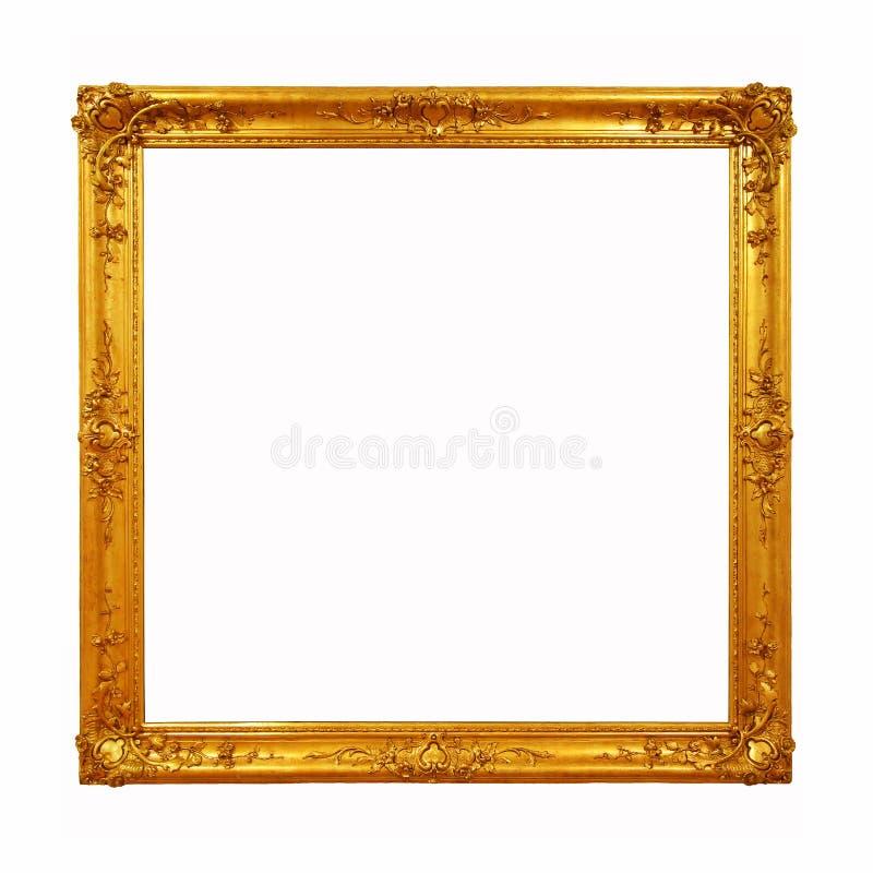 Uitstekend gouden kader met lege ruimte royalty-vrije stock fotografie