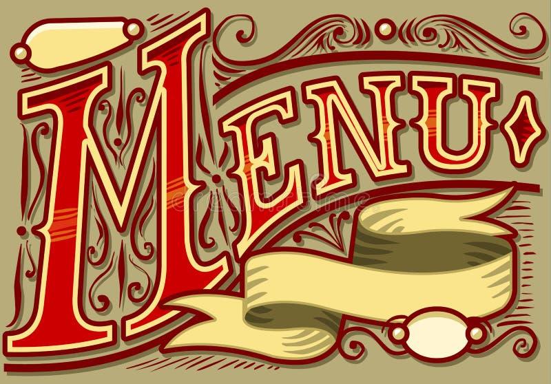 Uitstekend grafisch element voor menu vector illustratie