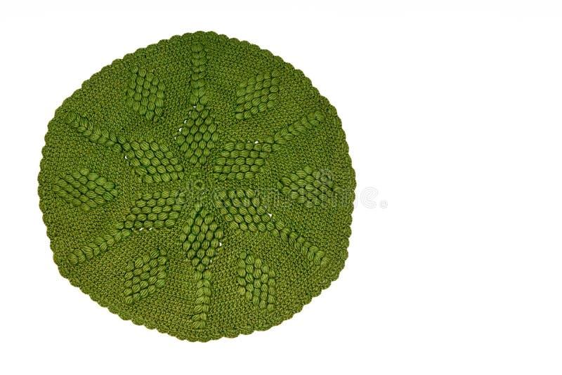Uitstekend groen gebreid kant royalty-vrije stock afbeelding