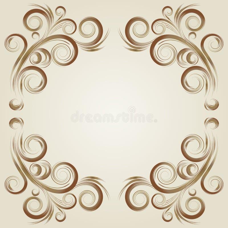 Uitstekend grunge beige frame stock illustratie