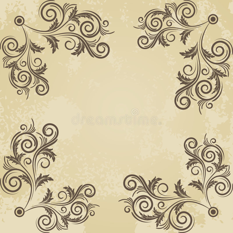 Uitstekend grunge beige frame royalty-vrije illustratie