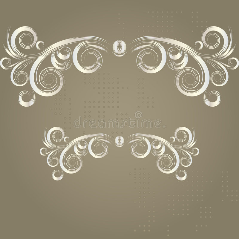 Uitstekend grunge bruin frame stock illustratie