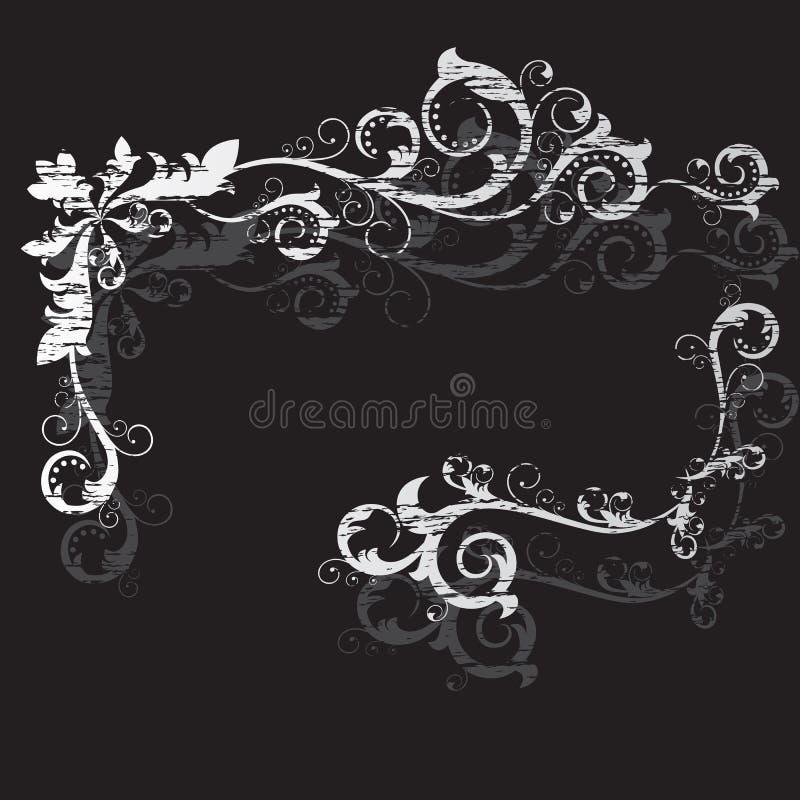 Uitstekend grunge zwart frame royalty-vrije illustratie