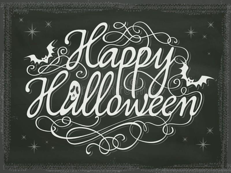 Uitstekend Halloween-tekenbord als achtergrond stock illustratie