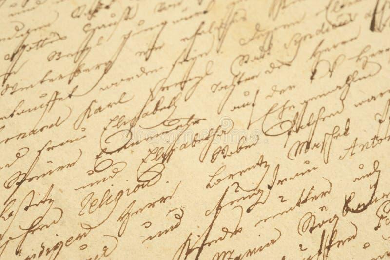 Uitstekend handschrift stock foto's