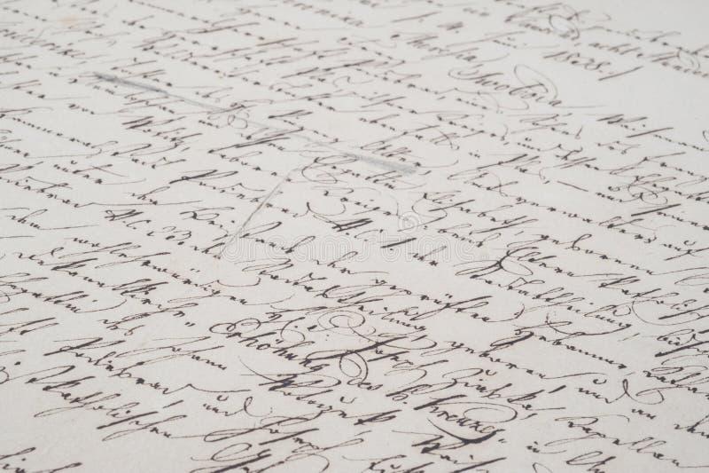 Uitstekend handschrift stock afbeeldingen