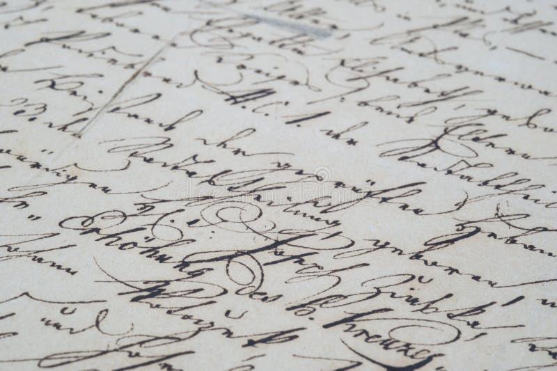 Uitstekend handschrift royalty-vrije stock foto
