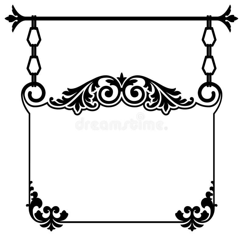 Uitstekend Hangend Teken vector illustratie
