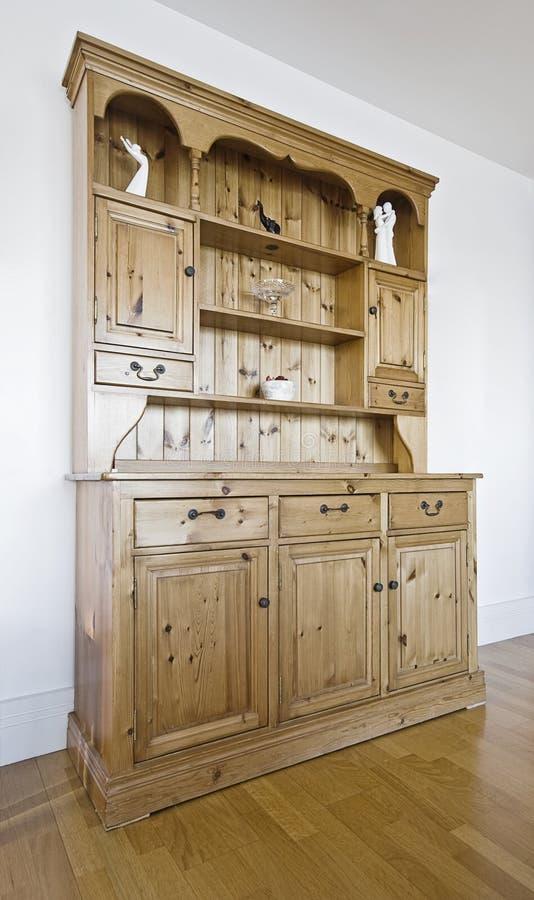 Uitstekend hard houten kabinet royalty-vrije stock foto's