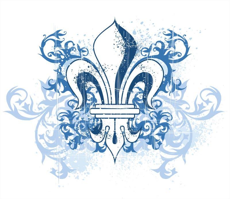 Uitstekend heraldisch embleem vector illustratie