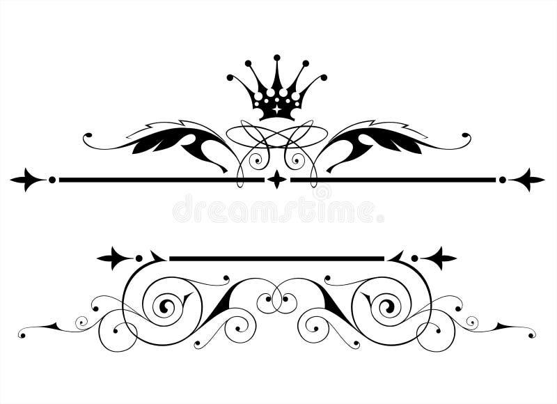 Uitstekend heraldisch embleem stock illustratie