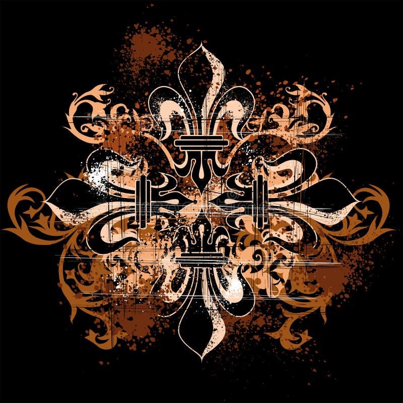 Uitstekend heraldisch kruis vector illustratie