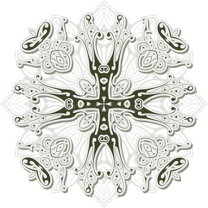 Uitstekend heraldisch kruis stock illustratie