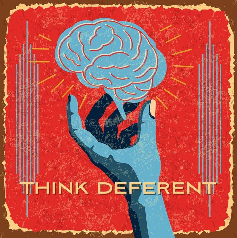 Uitstekend hersenenidee in handen vector illustratie