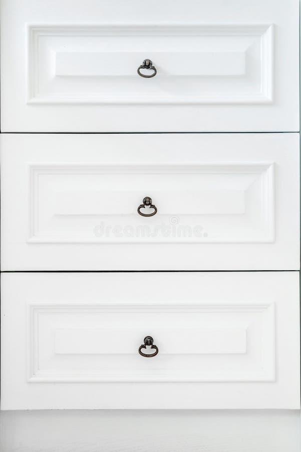 Uitstekend houten kabinet met lade royalty-vrije stock afbeeldingen
