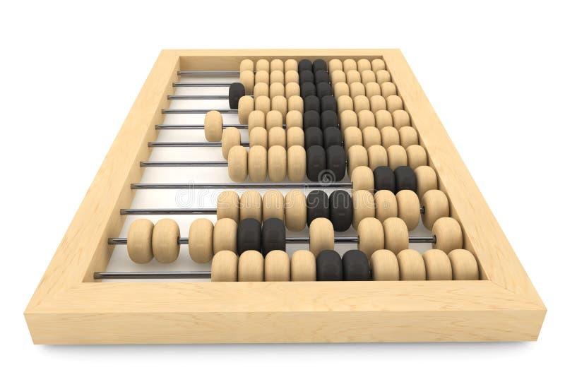 Uitstekend houten telraam vector illustratie