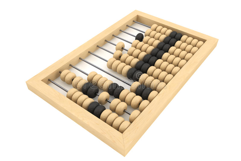 Uitstekend houten telraam stock illustratie