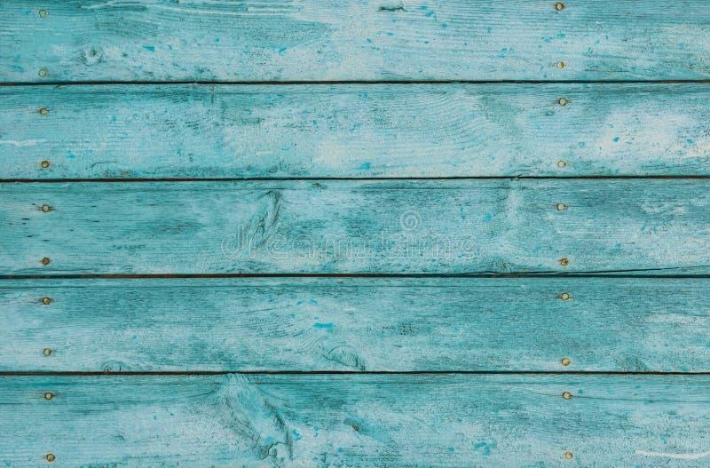 Uitstekend houten textuur achtergrondkleurenblauw royalty-vrije stock afbeeldingen