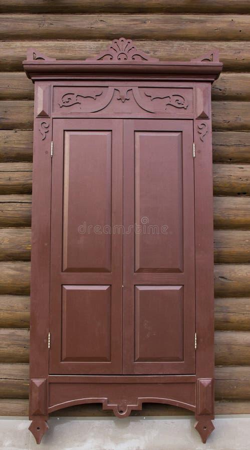 Uitstekend houten venster royalty-vrije stock foto's