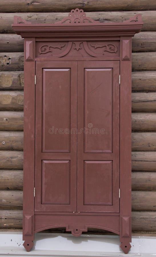 Uitstekend houten venster royalty-vrije stock afbeeldingen