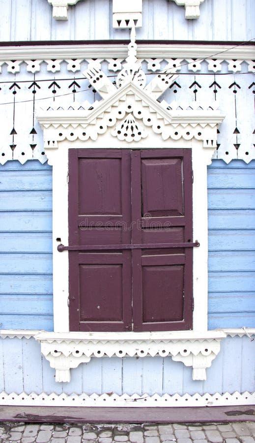 Uitstekend houten venster stock foto's