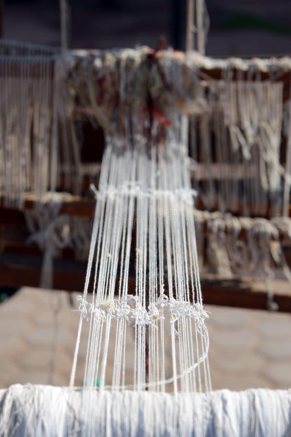 Uitstekend houten weefgetouw stock foto's