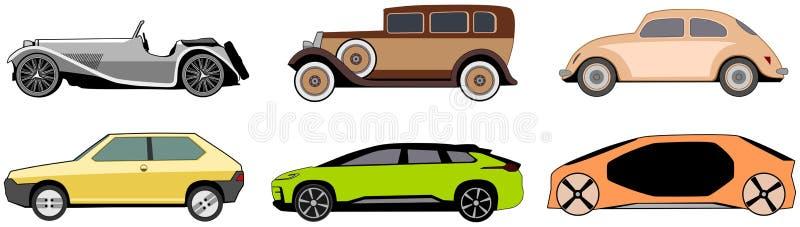 Uitstekend, innovatief en klassiek autoontwerp royalty-vrije illustratie