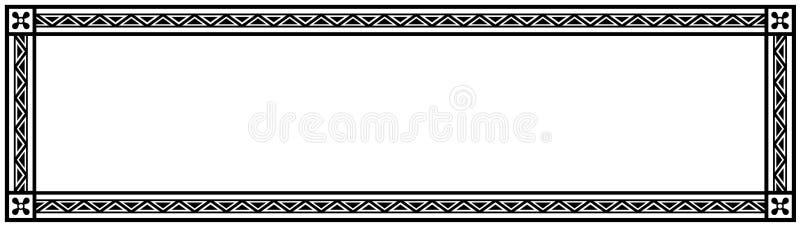 Uitstekend Kadermalplaatje met Vrije Ruimte - Voorraad Vectorillustratie royalty-vrije illustratie