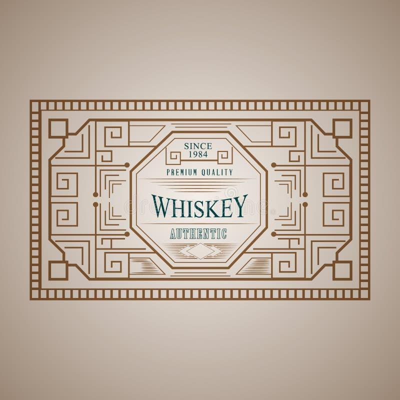 Uitstekend kaderontwerp voor etikettenmenu, sticker royalty-vrije illustratie