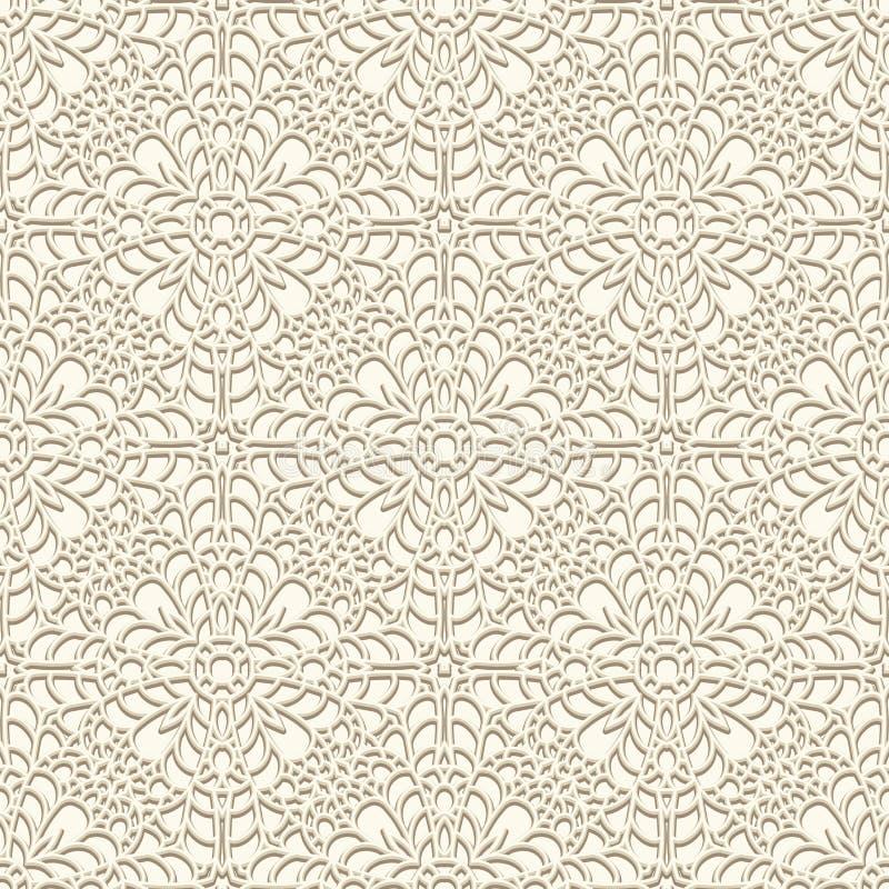 Uitstekend kantpatroon vector illustratie