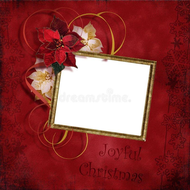 Uitstekend Kerstmisframe stock foto