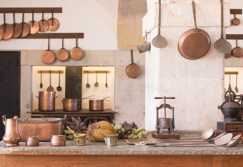Uitstekend keukenbinnenland royalty-vrije stock afbeelding