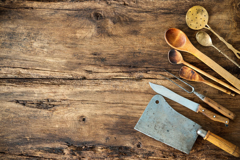 Uitstekend keukengerei royalty-vrije stock fotografie