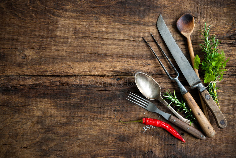 Uitstekend keukengerei royalty-vrije stock foto