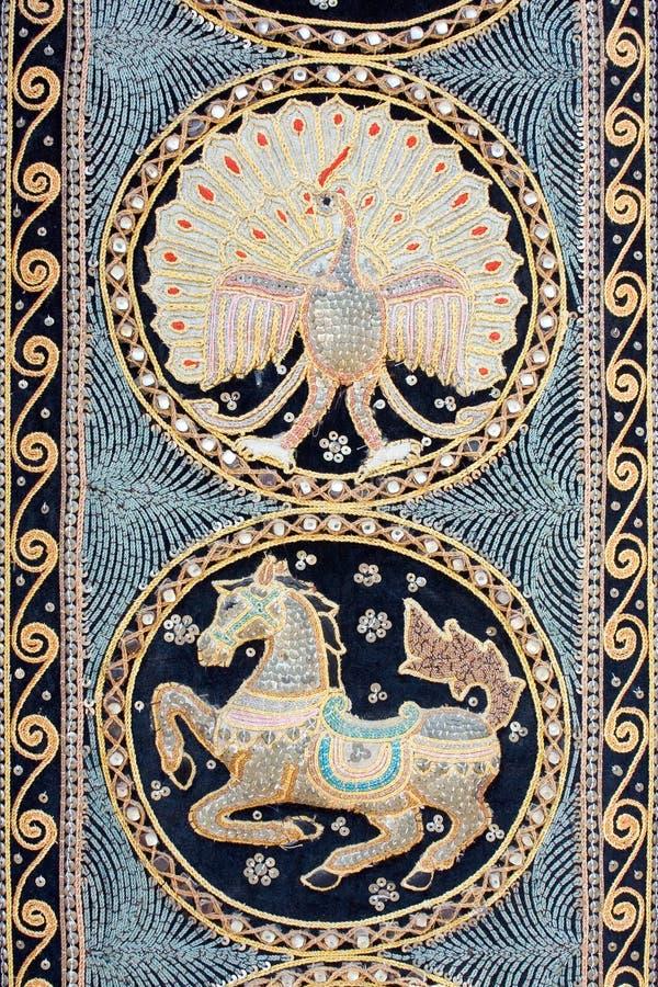 Uitstekend kleurrijk tapijt stock foto