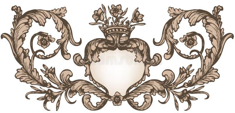 Uitstekend koninklijk kader royalty-vrije illustratie