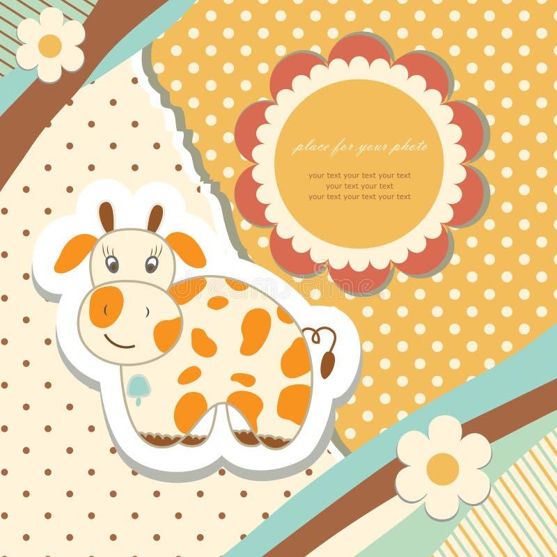 Uitstekend krabbelstuk speelgoed voor frame vector royalty-vrije illustratie