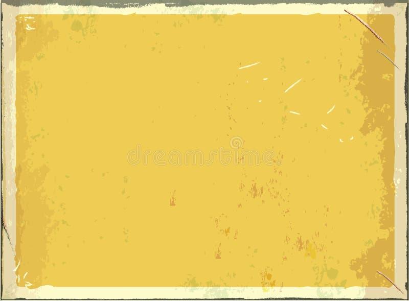 Uitstekend leeg metaalteken voor tekst of grafiek Vector retro lege achtergrond Gele kleur vector illustratie